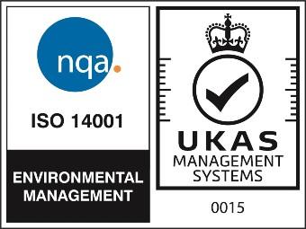 NQA ISO 14001 Logo - UKAS 2021